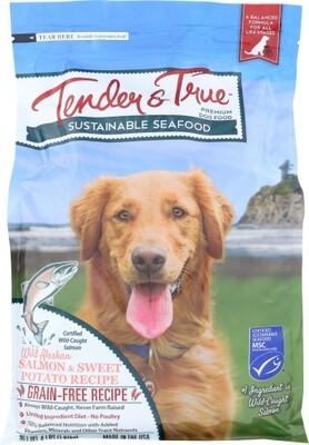 Tender & True Salmon & Potato Dog Food Bag 4lb