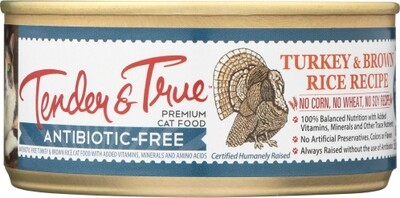 Tender & True Organic Turkey& Brown Rice Cat Food