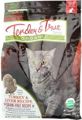 Tender & True Organic Turkey & Liver Cat Food Bag 3lb.