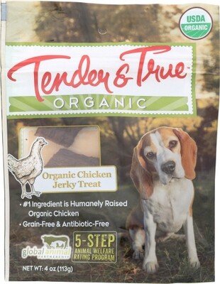 Tender & True Organic Chicken Jerky Dog Treats