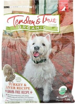 Tender & True Organic Turkey & Liver Dog Food Bag 4 lb