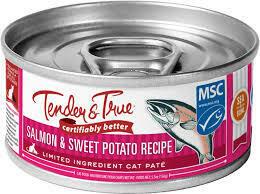 Tender & True Organic Salmon & Sweet Potato Cat Food