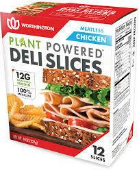 Worthington Meatless Chicken Deli Slices 12 ea/box