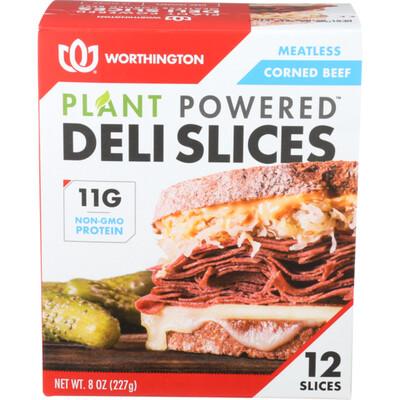 Worthington Meatless Corned Beef Deli Slices 12 ea/box
