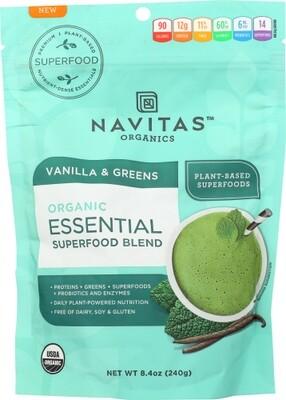 Navitas Organic Essential Superfood Blend Vanilla & Greens 8.4 oz