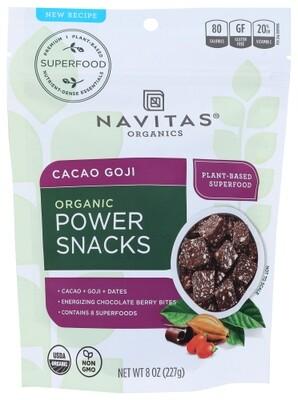 Navitas Organic Power Snack Cacao Goji 8 oz