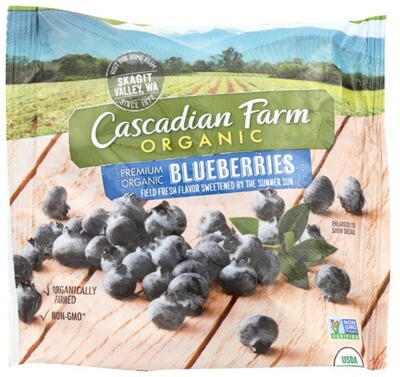 Cascadian Farm Organic Blueberries Frozen 8 oz