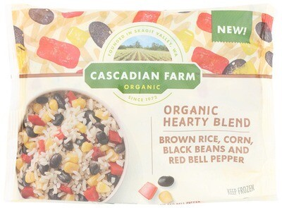 Cascadian Farm Organic Frozen Hearty Blend Brown Rice, Corn, Black Beans