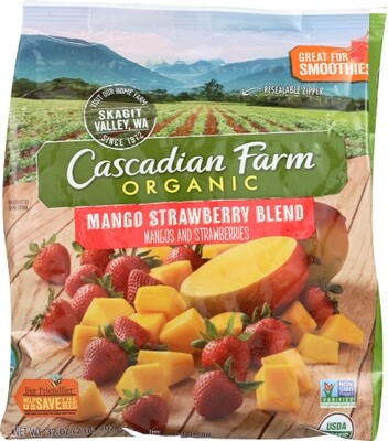 Cascadian Farm Organic Frozen Mango Strawberry Blend 32 oz