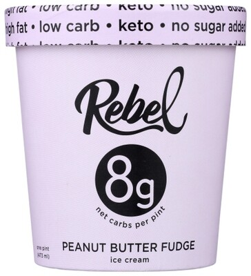Rebel Ice Cream Peanut Butter Fudge 1 pint