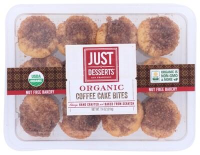 Just Desserts Organic Coffee Cake Bites