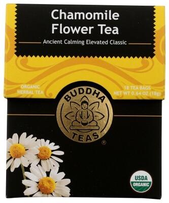 Buddha Tea Organic Chamomile Flower Tea 18 Bags