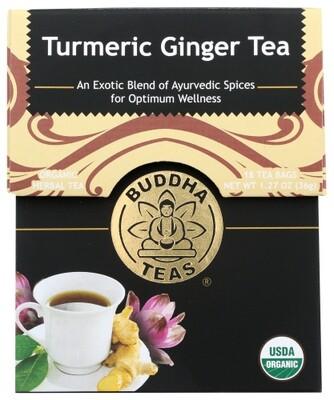 Buddha Tea Organic Turmeric Ginger Tea 18 Bags