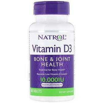 Natrol Vitamin D3 10,000 IU 60 tabs