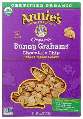 Annie's Organic Bunny Grahams Chocolate Chip 7.5 oz