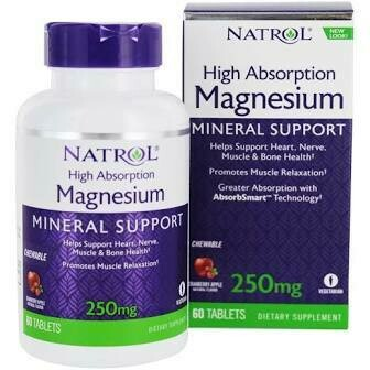 Tonalin High Absorption Magnesium Chewable Tabs 250 mg
