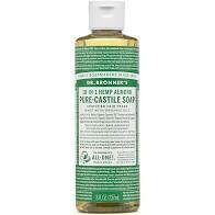Dr Bronner Pure Hemp Almond Oil Castile Liquid Soap 8oz