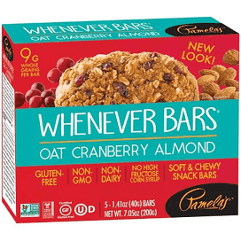 Whenever Bars Oat Cranberry & Almond 7.05 oz