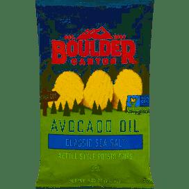 Boulder Canyon Avocado Oil Classic Sea Salt Kettle Style Chips