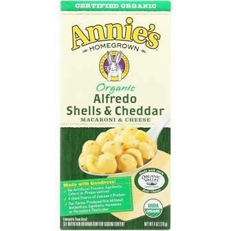 Annie's Organic Alfredo Shells And Cheddar