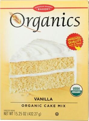 European Gourmet Bakery Organic Vanilla Cake Mix 15.2 Oz