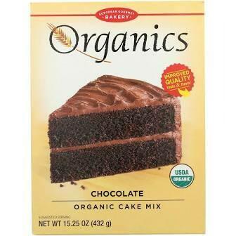 European Gourmet Bakery Organics Chocolate Cake Mix