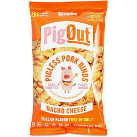 Pig Out Pigless Pork Rinds Nacho Cheese