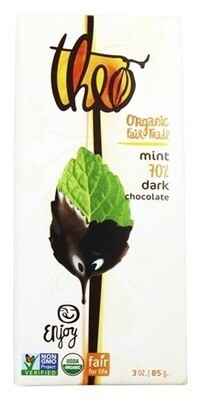 Theo's Organic Mint 70% Dark Chocolate