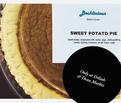 Becklicious Sweet Potato Pie Large 9 inch