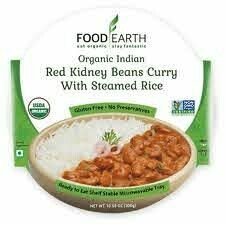 Food Earth Organic Indian Red Kidney Beans Curry With Steamed Rice