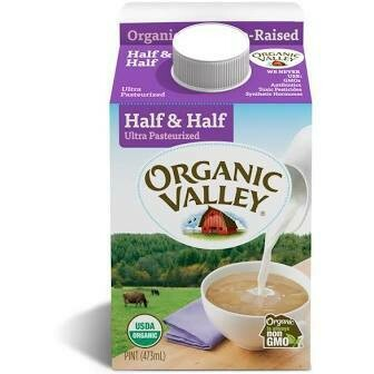 Organic Valley Half And Half 16 oz.
