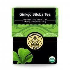 Buddha Tea Organic Ginkgo Biloba Tea 18 Bags