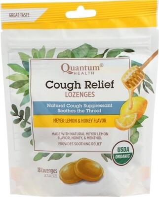 Quantum Health Cough Relief Lozenges Meyer Lemon & Honey 18 count