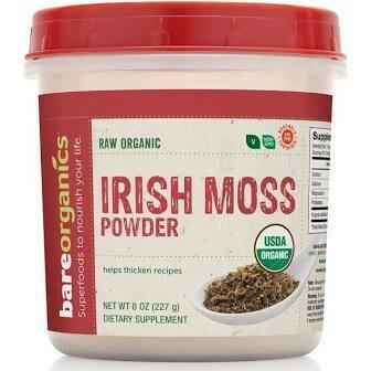 Bare Organics Raw Irish Sea Moss Immunity Powder 8 oz.