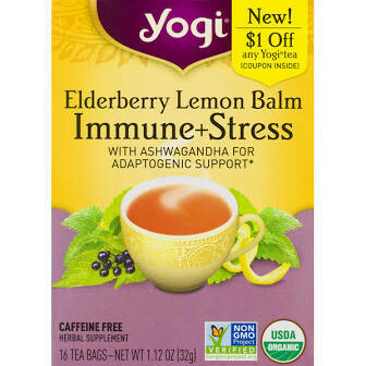 Yogi Elderberry Lemon Balm Immune + Stress Tea