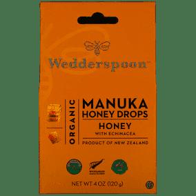 Wedderspoon Manuka Organic Honey Drops Honey With Echinacea