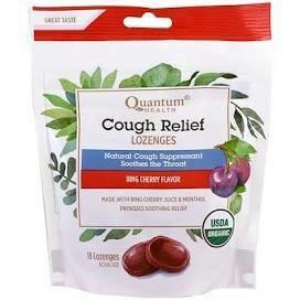 Quantum Health Cough Relief Lozenges Cherry Flavor 18 Count