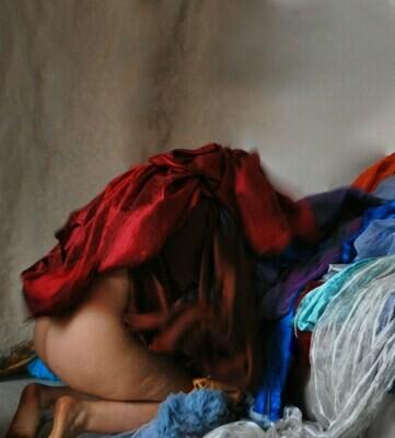 """""""La Recita a scuola"""" #2 Cappuccetto Rosso Self portrait ©Ilaria Facci"""