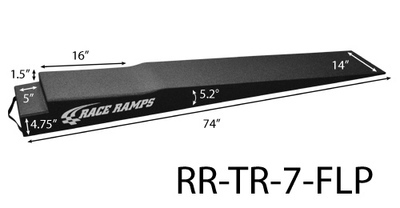 Trailer Ramps - 7 inch w/Flap Cutout