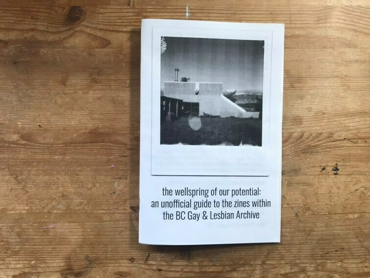 the wellspring of our potential: an unofficial guide to the zines within the BC Gay & Lesbian Archive