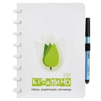 Креатино Вечна Тетрадка - Еко, A5, 40 страници + маркер