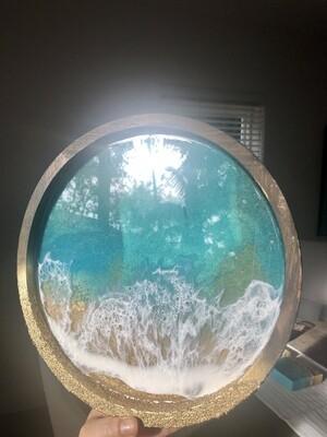 Round vanity tray