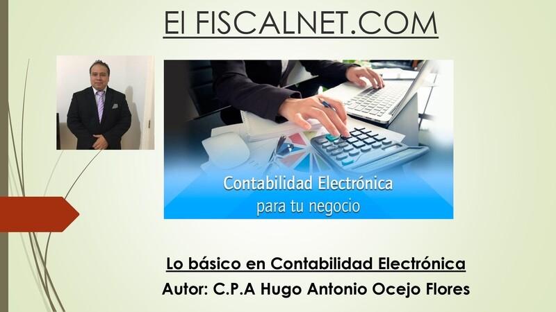 Lo básico en Contabilidad Electrónica