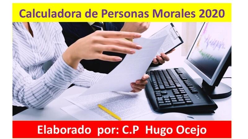 Calculadora de Personas Morales 2020