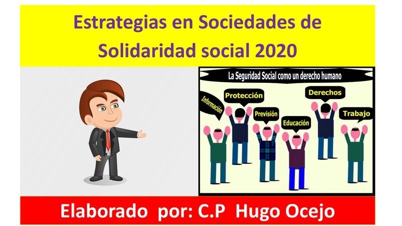 Curso Estrategias en Sociedades de Solidaridad Social 2020