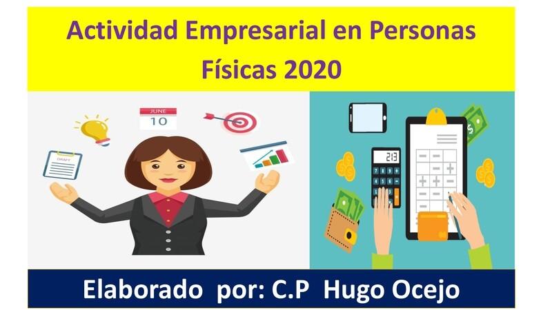 Curso Actividad Empresarial en Personas Físicas ( Material y Video)