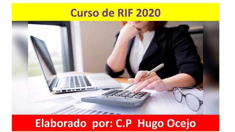 Curso de RIF al español 2020 ( Material y video )
