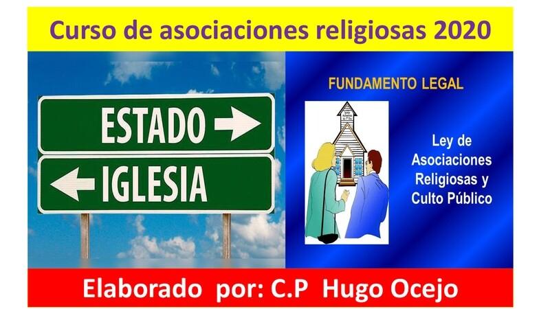 Curso de Asociaciones Religiosas ( Material y Video )