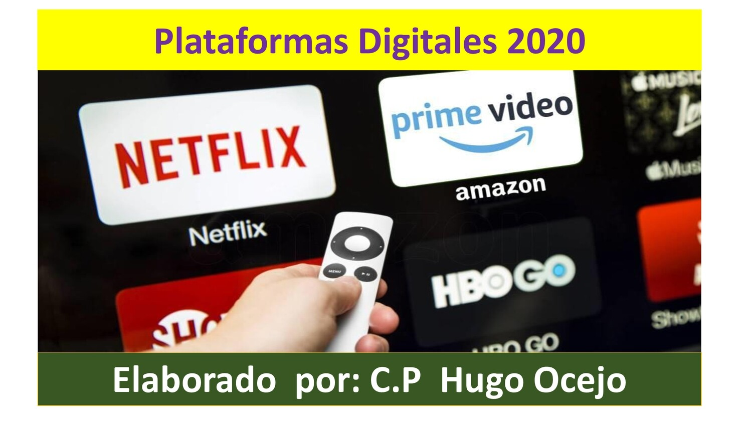 Plataformas Digitales 2020 ( Material y video )