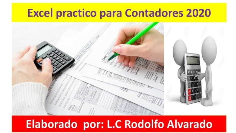 Excel práctico para Contadores 2020 ( Material y video )